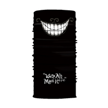 Clown Face Shield Tube Neck Gaiter Mask Polyester Seamless Bandana