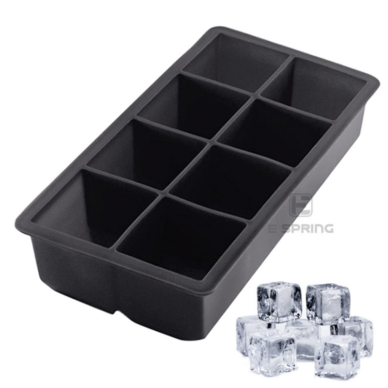 BPA Free Silicone Large Ice Cube Tray, Personalized 8 Cavity Silicone Ice Cube Tray