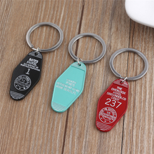 New Product Ideas 2019 Custom Logo Personalized Keychain Motel Key Chain