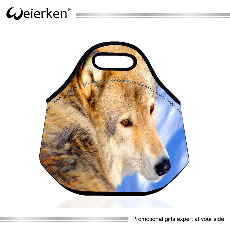 Custom Full Color Printing Personalized Neoprene Lunch Tote Bag