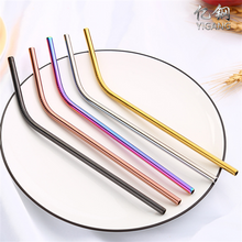 Eco-friendly Colorful Stainless Steel Straw Drinking For Bar