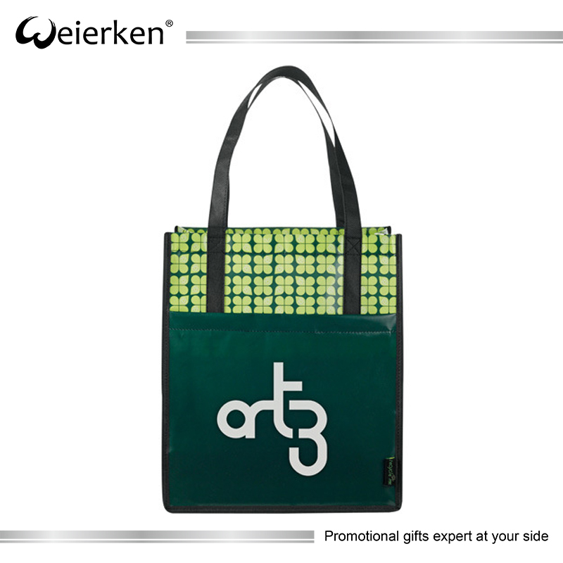 Promotional Non-woven Tote Shopping Bag with Custom Logo