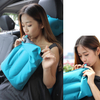 Flocked TPU Air Inflatable Camping Pillow Travel Self Inflatable Bolster Pillow