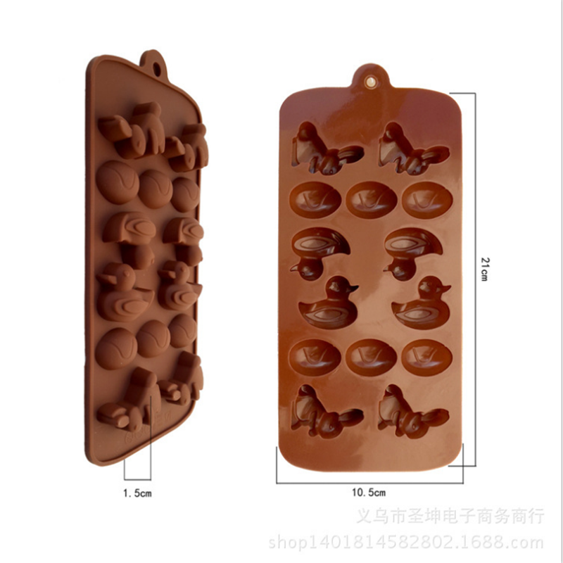 Personalized Custom Food Grade Eco-Friendly Silicone Chocolate Animal Shape Ice Cube Tray