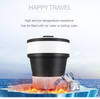 Kids Sports Coffee Outdoor Travel Colorful Bottle Folding Cute Water Foldable Collapsible Cup Silicone