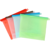Eco Friendly Ziplock Leakproof Snack Reusable Silicone Food Storage Bag Fruits Vegetable Meats Prervation Container