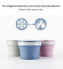170ml 270ml 350ml Hot Sell Silicone Collapsible Coffee Cup Folding Water Bottle